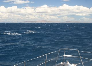 Our first view of the tip of Madagascar