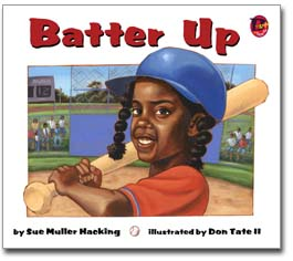 The bright cover of Batter Up! publsihed by Bebop Books/Lee and Low