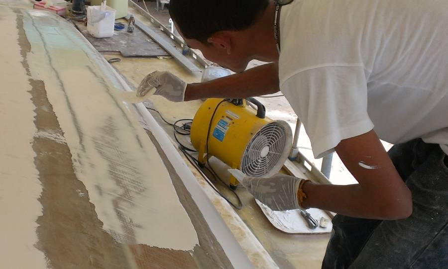how to use gelcoat filler