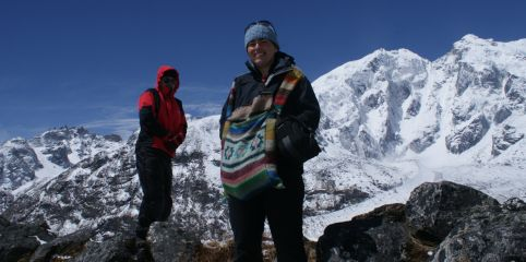 Jon & Bianca 4600m/15,200'.  Can it get any better?