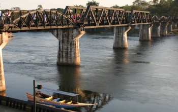 The infamous bridge on the river Kwai. The curved sections are original.