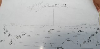 Annie's sketch of the British Loyalty Wreck dive