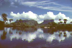 "Lakes and ""tepuis"" in Canaima NP, Venezuela"
