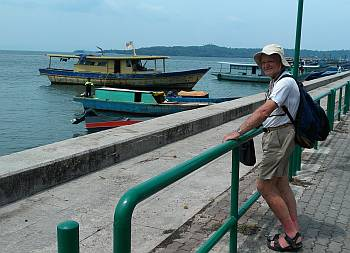 Colin on the Kudat town esplanade