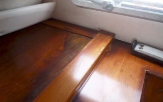 Interior teak doesn't like getting wet over & over