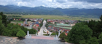 "Dien Bien Phu from the top of ""monument hill"""