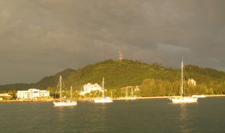 Evening sun on the boats, Kuah, Langkawi, Malaysia