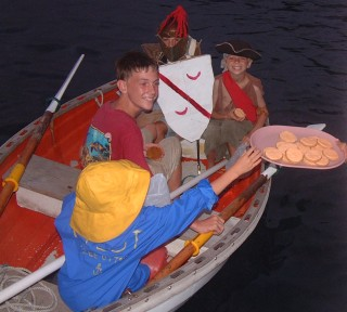 Halloween trick-or-treating on a boat is very different