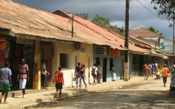 Downtown Hellville, Madagascar, near supermarket