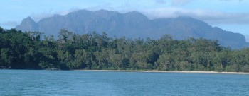 Our Shepherd Bay anchorage on N Hinchinbrook Is.