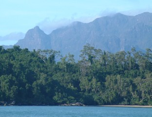 Anchored off Hinchinbrook Island