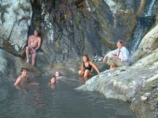Natural hotsprings in the Andes, a great end to the 4-day Los Llanos trip.
