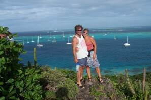 John & Becky overlooking the Tobago Cays