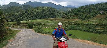 Riding through the highlands around Sapa
