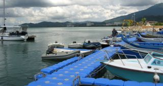 A private jetty in Kuah, Langkawi, for local boats and dinghies.