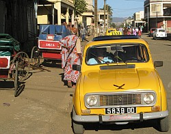 Rickshaws, taxis, Malagasy women all normal in Diego Suarez