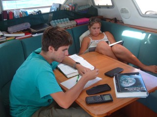 Even when we're sailing, school is in session.