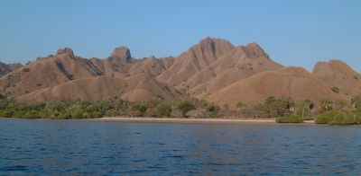 The anchorage at Pink (aka Red) Beach, Komodo, Indonesia