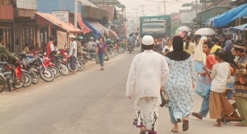 Bustling but fairly primitive Kumai Town