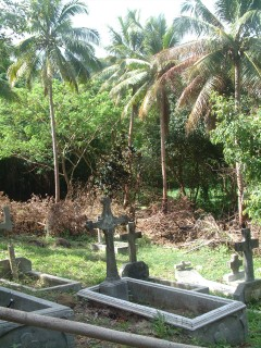 The cemetery of the leper colony is still maintained, and the forest kept at bay.