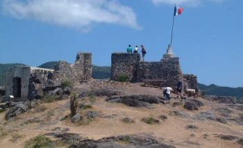 The ruins of Fort Louis, French St Martin