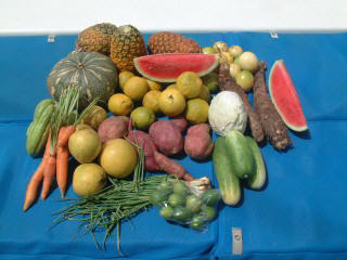 An example of one shopping day in the Caribbean (local markets had lots of fresh produce)