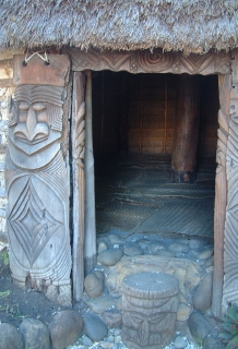 Entrance to traditional men's house, New Caledonia