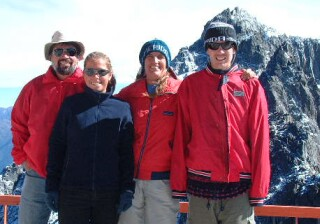 15,000 ft in the Andes.  We do get off the boat & get cold sometimes!