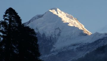 First light on Mt Pandim, Sikkim, Indian Himalaya