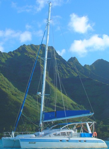 Ocelot at anchor in Moorea, French Polynesia