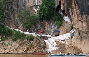 Pak Ou Caves from the Mekong River