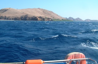 Strong currents rip through the Komodo area