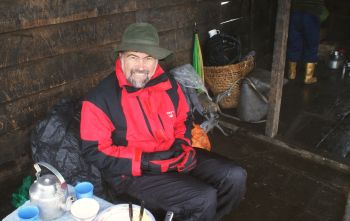 Lunch stop in drafty hut, Phedong. 3650m/12050' Sikkim, India