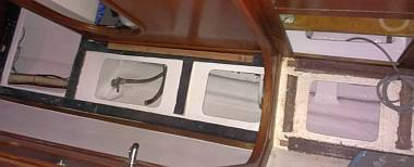 Newly gelcoated bilges! (seen from above, looking straight down)
