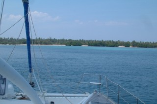 The lovely, protected anchorage at Pulau Medang, off Sumbawa.