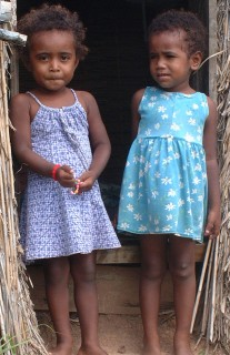 Young Fijian girls at Sakay's plantation, near Sese