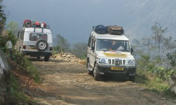 Jeep travel in Sikkim demands strong nerves