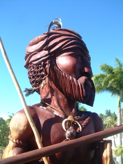 Statue of early Kanak chief, National Museum, Noumea