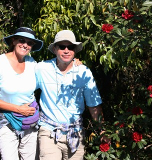 Sue & Jon at Doi Inthanon with R. arboreum var. delavayi
