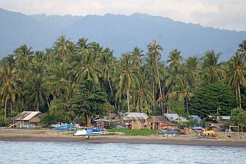 A typical small village on the coast of Sulawesi