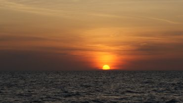 Glorious sunset on the Andaman Sea