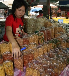 Bubble-packed snacks in Chiang Mai