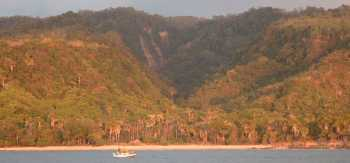 The west coast of Timor in evening light