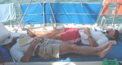 After a delightful lunch in the tropics, it's siesta time!