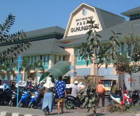 A new shopping center in Mataram, Lombok
