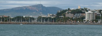 Townsville anchorage - the beach is to the right