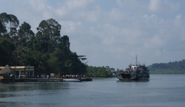 Ferry & dock at Nilambur Village, Andaman Strait
