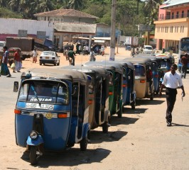 Tuk-tuks are the main taxis everywhere