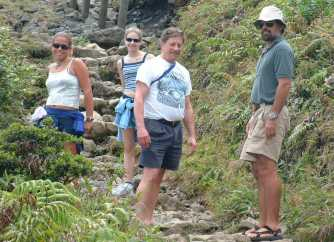 Climbing Mt. Soufriere Volcano on Guadeloupe