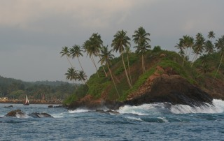The rugged headland at Weligama Bay, southern Sri Lanka